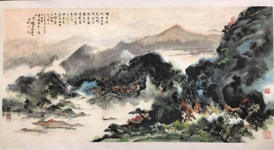杨彦 山水 作品展示 安逸田园画廊